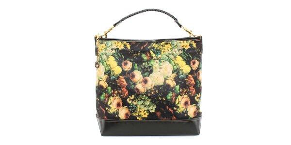 Dámská kabelka s žlutým květinovým potiskem Beverly Hills Polo Club