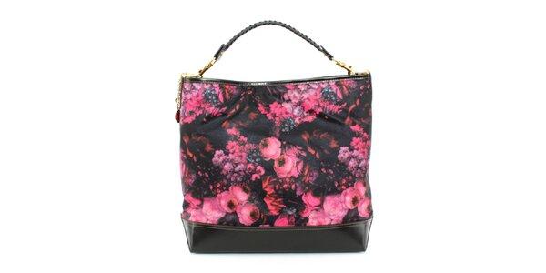 Dámská kabelka s růžovým květinovým potiskem Beverly Hills Polo Club