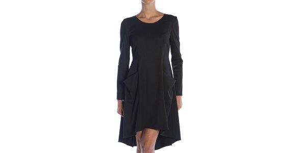 Dámské černé šaty s kapsami Gene