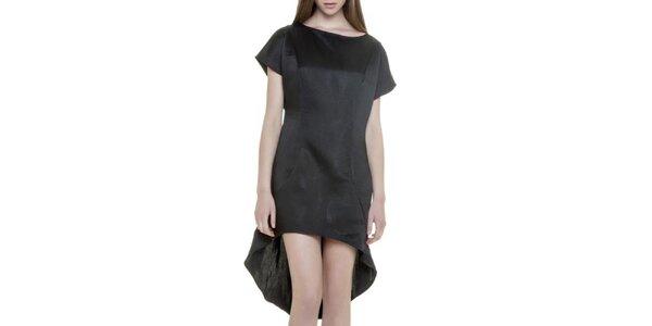Dámské černé šaty s asymetrickou sukní Gene