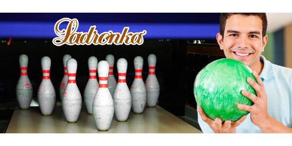 Hodina bowlingu na Ladronce s 1 pivem zdarma