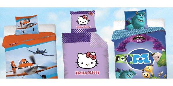 Výprodej dětského povlečení: Hello Kitty, Příšerky, Mašinka Tomáš