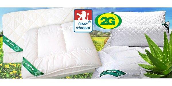Výprodej lehkých letních přikrývek, polštářů a přikrývek s Aloe Vera, 1+1 zdarma