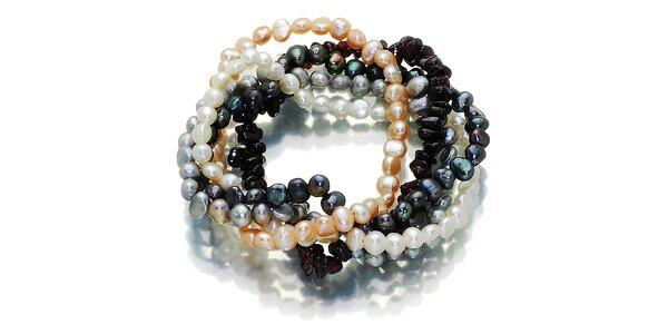 Barevný perlový náramek Orchira