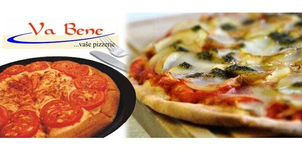120 Kč za DVĚ vynikající pizzy dle vašeho výběru. SLEVA 50%.