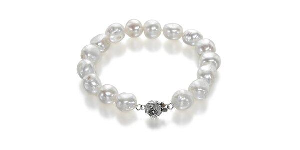 Náramek Orchira s bílými perlami