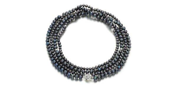 Černý perlový náhrdelník Orchira