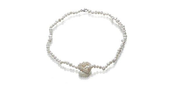 Náhrdelník z bílých perel Orchira