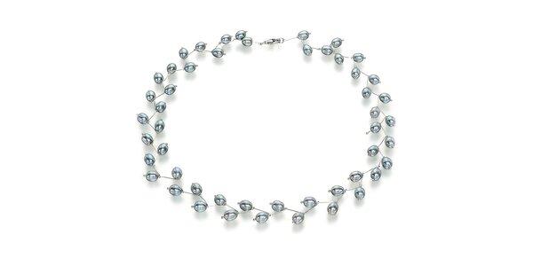 Náhrdelník Orchira s šedými perlami