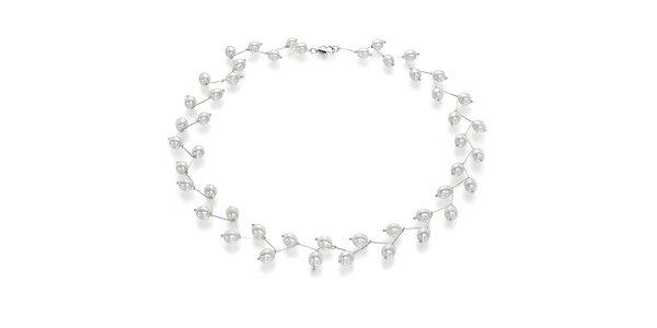 Náhrdelník Orchira s bílými perlami