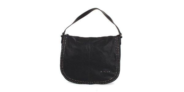 Dámská černá ocvočkovaná kabelka Sisley