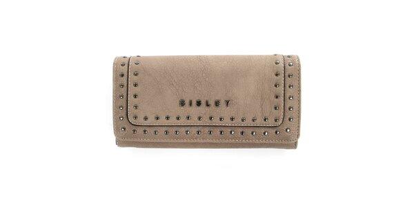 Dámská béžové peněženka s cvočky Sisley