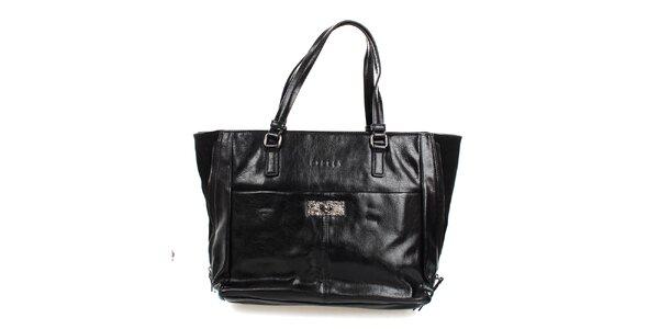 Dámská černá lesklá kabelka Sisley