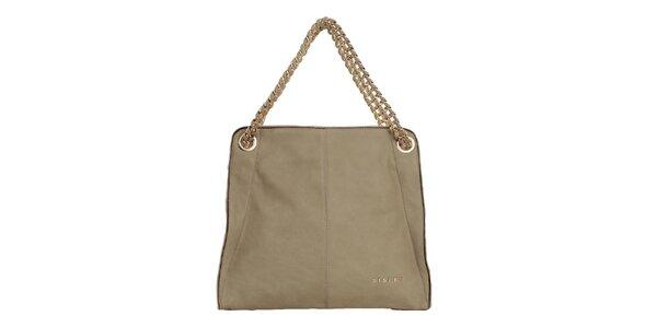 Dámská krémová kabelka s řetězem Sisley