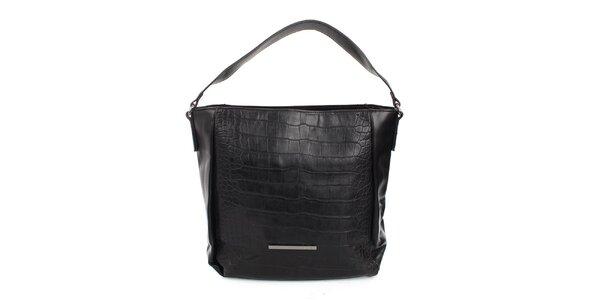 Dámská černá kabelka s jedním uchem Sisley