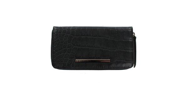 Dámská černá peněženka na zip Sisley