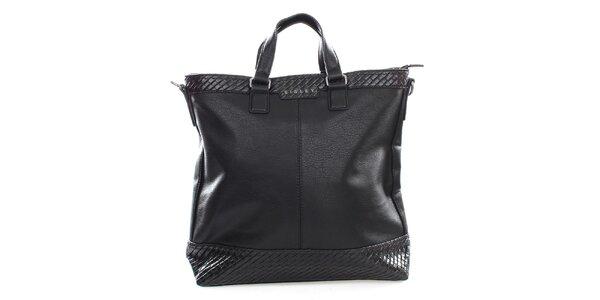 Dámská velká černá kabelka Sisley