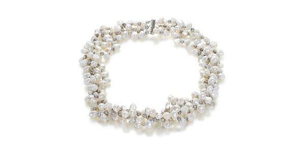 Bílo-stříbrný náhrdelník Orchira