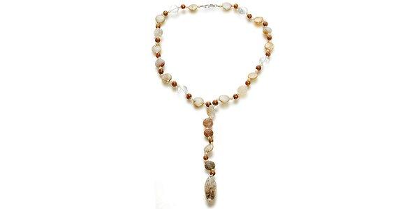 Perlový náhrdelník Orchira ve tvaru Y