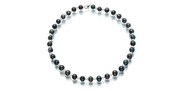 Černo-bílý náhrdelník Orchira
