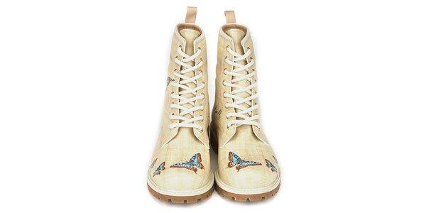 Dámské šněrovací boty s motýlky Dogo