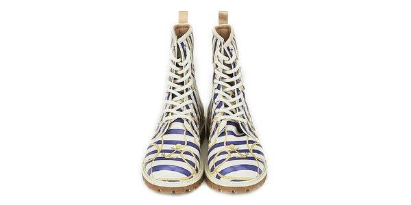 Dámské kotníkové boty s námořnickým motivem Dogo
