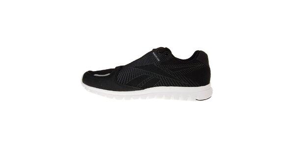 Pánské černé běžecké boty Reebok s bílou podrážkou