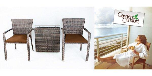 Balkonový set Elegant z umělého ratanu