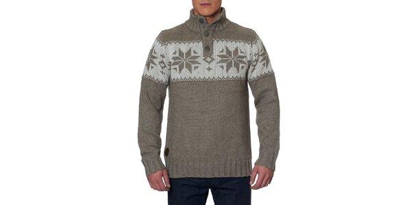Pánský svetr se stojáčkem a knoflíky Paul Stragas