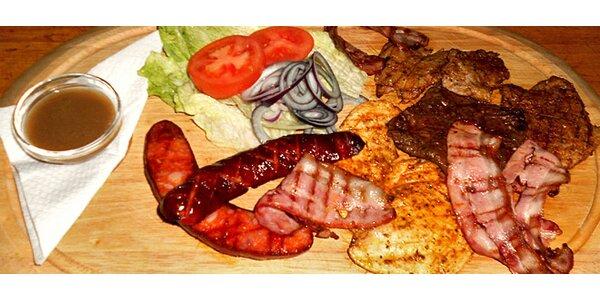 Mix Grill PRO DVA - pět druhů grilovaného masa s přílohou