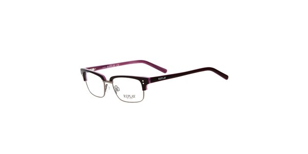 Pánské hranaté brýle Replay s kontrastním vnitřkem