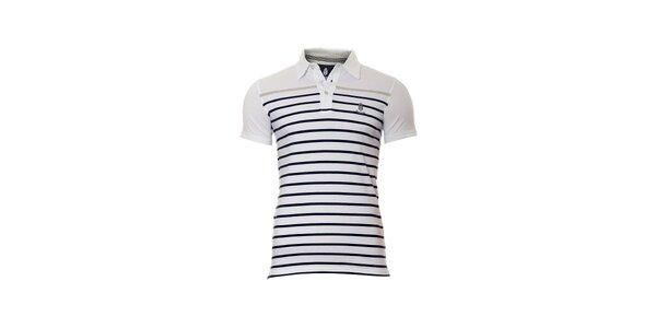 Pánské bílé polo tričko značky Bendorff s proužky