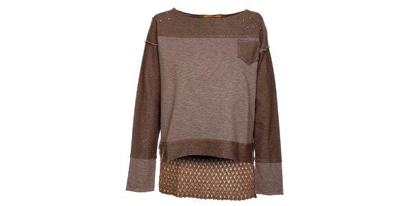 Béžovo-hnědé dámské tričko Bleifrei