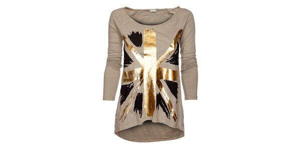 Béžové dámské tričko Bleifrei
