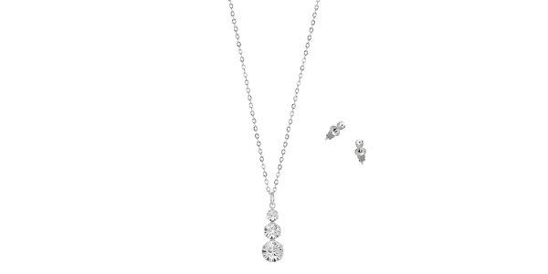 Dámské šperky s kamínky Swarovski Elements - řetízek a náušnice Art de France