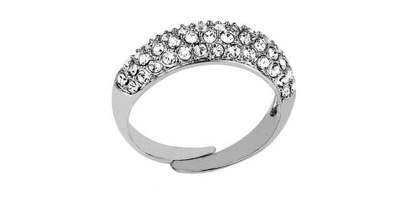 Dámský prsten s průhlednými krystaly Art de France