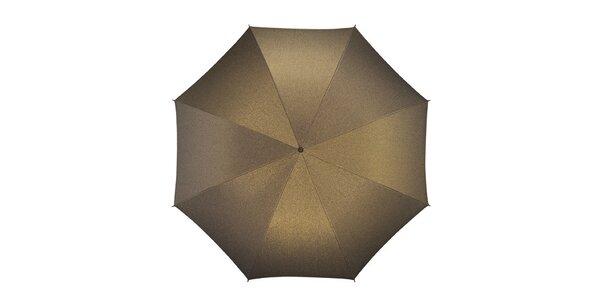 Dámský skládací vystřelovací zlatý deštník Pierre Cardin