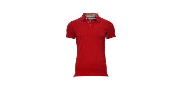 Pánské červené polo tričko značky Bendorff s náprsní kapsou