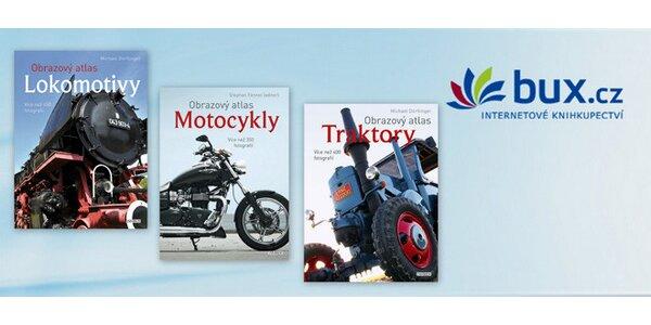 Sada 3 atlasů - Lokomotivy, Motocykly a Traktory