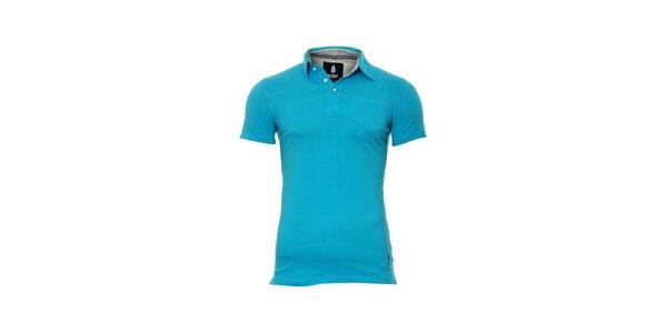 Pánské modré polo tričko značky Bendorff s náprsní kapsou
