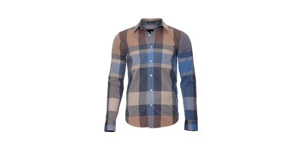 Pánská kostkovaná košile značky Bendorff ve světle modré barvě