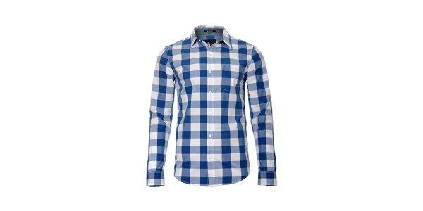 Pánská modro-bílá kostkovaná košile značky Bendorff
