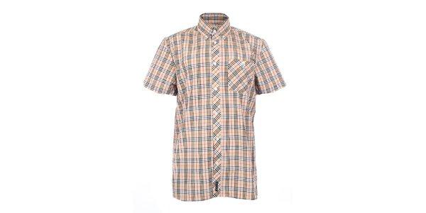 Pánská béžová košile s tartanovým vzorem The Spirit of 69