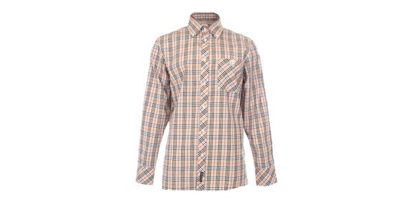 Pánská béžová košile s károvaným vzorem The Spirit of 69