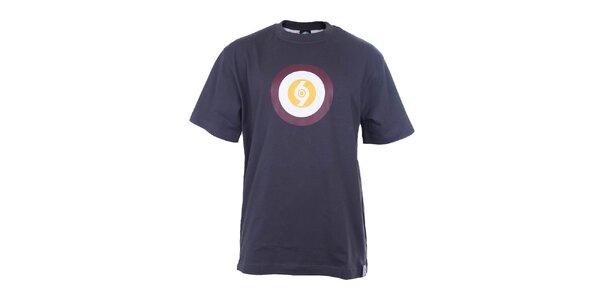 Pánské modré tričko s barevným terčem The Spirit of 69