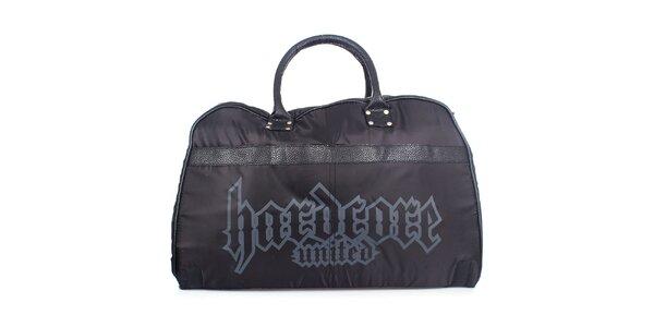 Pánská černá sportovní taška Hardcore United