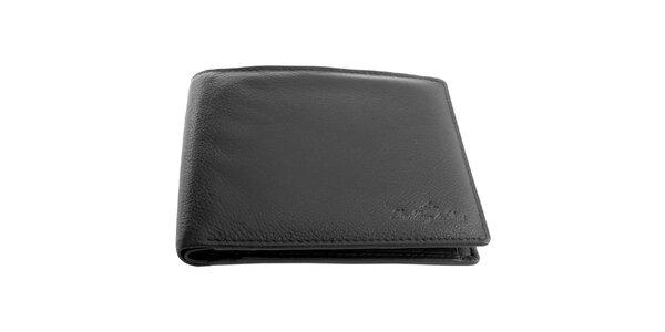 Pánská kožená černá peněženka Lindberg & Sons
