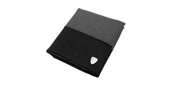 Pánská černo-šedá látková peněženka Lamborghini