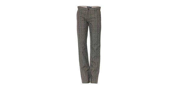 Pánské kostkované kalhoty značky Bendorff v šedé barvě