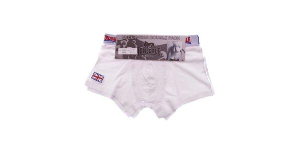 Set dvou bílých pánských boxerek Lonsdale